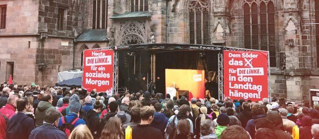 Wahlkampf-Höhepunkt zur Landtagswahl 2018 mit Gregor Gysi