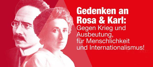 Gedenken zum 100. Todestag von Rosa Luxemburg & Karl Liebknecht