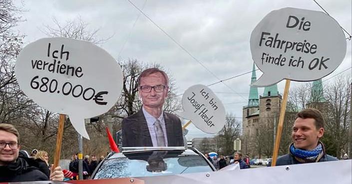 VAG-Chef Josef Hasler verdient 680k€ und findet die Fahrpreise ok