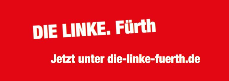 Banner mit Link zur Website http://die-linke-fuerth.de