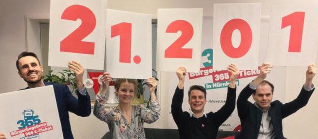 Bürgerbegehren 365 €-Ticket — 21.201 Unterschriften