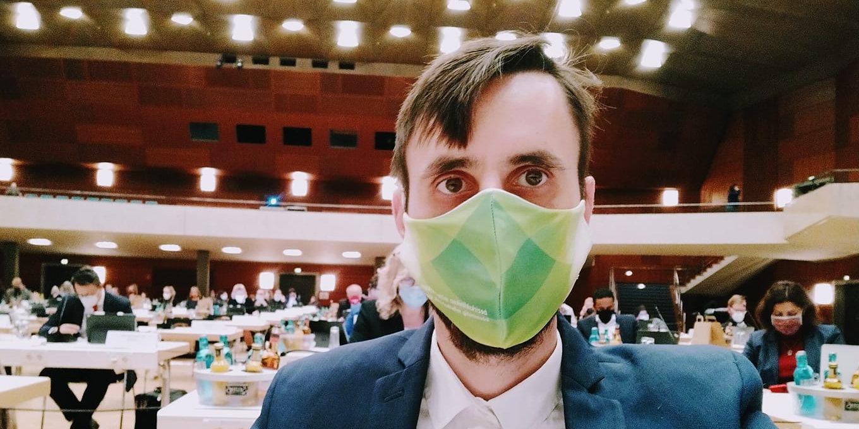 Titus Schüller bei den Haushaltsberatungen im Stadtrat