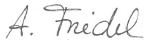 Unterschrift Andrea Friedel